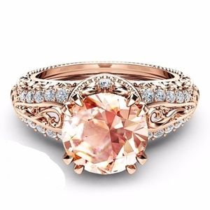 Jewelry - Size 7 - 2.65CT Champagne Zircon 14K RGP Ring